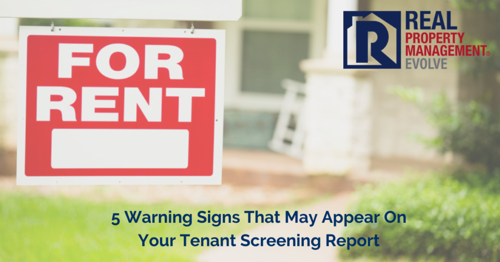 Tenant Screening Report - Real Property Management Evolve