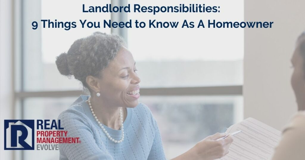 Landlord Responsibilities to Know As A Homeowner - RPM Evolve Real Property Management Evolve